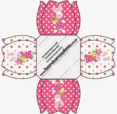 Cajas de Pascua en Rosa para imprimir gratis