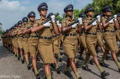 """Photo by @amivitale on assignment for @natgeo. An all-female unit of police officers practices marching for the 67th Independence Day celebration in Colombo, Sri Lanka, in 2015. In his speech on February 4, 2015, the new president, Maithripala Sirisena, said the country's biggest challenge was """"bringing together the minds of the people of the north and south"""" to """"take our great motherland forward as a land rich in human affection and understanding."""" @natgeocreative #colombo #srilanka #asia…"""