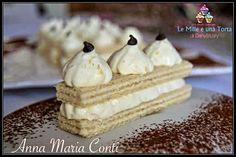 DOLCETTI DI WAFER CON CREMA AL MASCARPONE RICETTA DI: ANNA MARIA CONTI Ingredienti e dosi: Per 5 dolcetti 10 biscotti wafer alla vaniglia