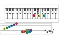 GIANT WALL CHARTS & MUSIC-GO-ROUNDS Set - Set includes 2 wall charts and 2 Sets of Music-Go-Rounds: