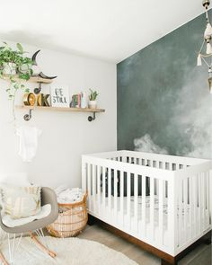 Contemporary Baby Bedroom With Modern Baby Girl Princess: Modern Smoke Mural Nursery For A Baby Boy Baby Bedroom, Baby Boy Rooms, Baby Room Decor, Baby Boy Nurseries, Nursery Room, Girl Nursery, Kids Bedroom, Nursery Wall Murals, Room Baby