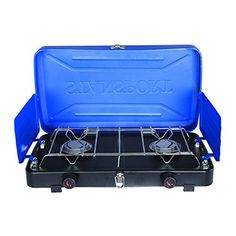 Stansport Propane Gas Outdoor Stove In Blue - Bring the experience and taste of home cooking to the great outdoors with the Stansport Propane Gas Outdoor Stove. Each burner has its own windscreen that boasts heat retention for thoroughly cooked meals. Best Camping Stove, Coleman Camping Stove, Coleman Propane, Camping World, Camping Gear, Tent Camping, Yosemite Camping, Camping Chairs, Backpacking
