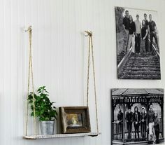 Rope Shelf from Salvaged Wood Projects via aknickoftime ...