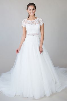 'Tonya Tee + Kinsley Skirt' Delicate and Soft, the soft sparkle of the Tonya Tee adds a dreamy layer to our Kinsely Skirt, making it a truly couture look. See these pieces and other bridal separates from the Build-A-Bride by heidi elnora line at our brand new heidi elnora Atelier!