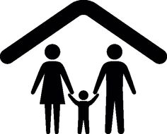 Family under a ceiling outline vector icon - People icons - Icons Download