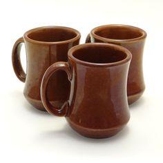 diner mug vintage | Vintage Brown Coffe Mugs Diner Style by EchoVintageMarket, $15.00