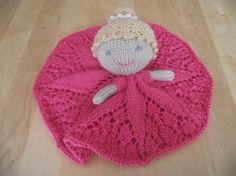 Princess Scarlett Blanket Toy Blankie PDF Knitting by CillasPurls
