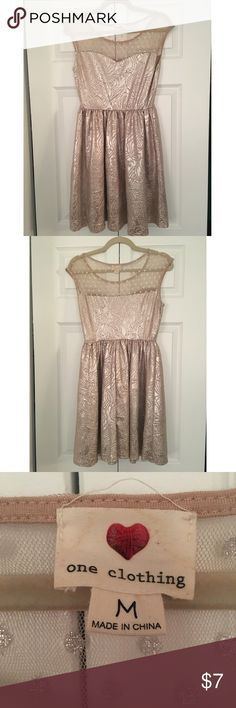 Golden Dress Beautiful golden color with sheer detailed top one clothing Dresses