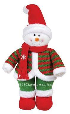 "14"" muñeco de nieve de pie ( sombrero rojo )-Adornos navideños ... Christmas Fabric, Little Christmas, Christmas 2017, Christmas Snowman, Christmas Wreaths, Christmas Crafts, Country Christmas Decorations, Holiday Decor, Sock Snowman"