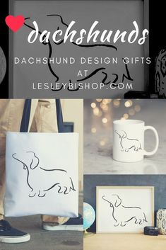 We have a collection of minimalist design dachshund gifts for lovers of doxies sausage dogs wiener dogs.whatever you call them! Best Dog Gifts, Dog Mom Gifts, Gifts For Dog Owners, Dog Lover Gifts, Dog Lovers, Dachshund Art, Dachshund Gifts, Dog Home Decor, Sausage Dogs