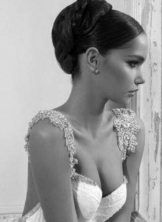 Inbal Dror wedding gown LOVE her designs. Beaded Wedding Gowns, Sexy Wedding Dresses, Wedding Attire, Wedding Bride, Bridal Gowns, Backless Wedding, Elegant Wedding, Lace Wedding, Gown Wedding
