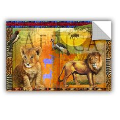 African Lion by Chris Vest Wall Mural
