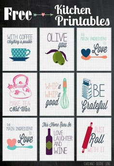 Kitchen Printables {Guest Post at Happy Housie} - SohoSonnet Creative Living