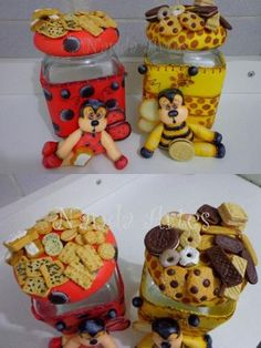 Potes Decorados Biscuit