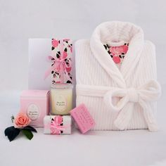 Sweet Pea Scented soap and soy wax candle along with a luxurious womens bath robe makes this gift hamper extra special. Pamper Hamper, Baby Hamper, Luxury Hampers, Best Baby Gifts, Bath Soap, Gift Hampers, Soy Wax Candles, Black Crystals, Corporate Gifts