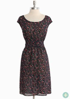 "Beautiful Day Curvy Plus Dress 42.99 at shopruche.com. This chiffon dress in navy is perfected with a delicate rose print, an elasticized smocked back, and a waist-defining sash for a flattering silhouette. Semi-sheer. Lightweight.  100% Polyester, Made in USA, 38"" length from top of shoulders"