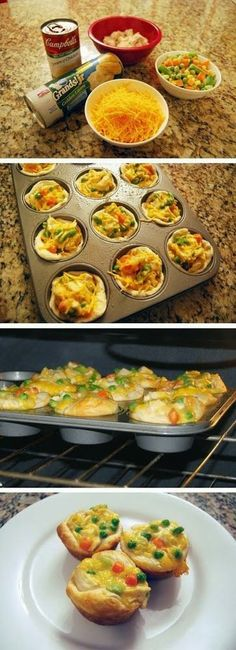 Normal Recipe: Chicken Pot Pie Cupcakes