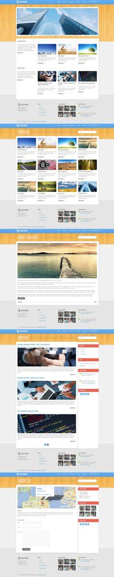 Dolphin  |  Responsive, Corporate  , Wordpress Template  |  themeforest  |  http://dolphin.progressionstudios.com/