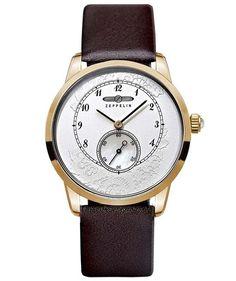 ZEPPELIN Viktoria Luise Ladies watch Swiss quartz Silver dial Gold case 7333-5