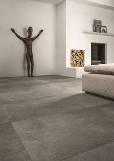 Modern Flooring, Grey Flooring, Stone Flooring, Concrete Floors, Living Room Flooring, Living Room Carpet, Home Living Room, Grey Kitchen Tiles, Large Floor Tiles