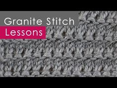 GRANITE Knit Stitch Pattern - YouTube