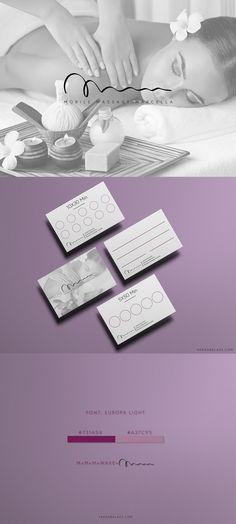 Design: Varga Balázs Project: Mobile Massage Marcella | Massage brand design Mobile Massage, Brand Design, Place Cards, Place Card Holders, Projects, Log Projects, Blue Prints, Branding Design, Corporate Design