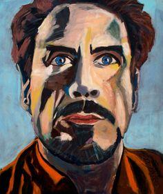 """EvaSchlitzer """"Robert Downey jr."""", 100 x 120, Acryl auf Leinen, Portrait, Auftragsmalerei, zeitgenössische Malerei, Gegenständliche Kunst Robert Downey Jr., My Works, Portrait, Painting, Linen Fabric, Painting Art, Kunst, Headshot Photography, Portrait Paintings"""