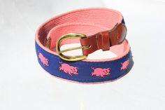 Vintage Pink Pig Belt.