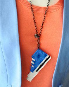 Perler Beads Plastic Pendant - sneaker