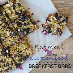 Oatmeal Superfood Breakfast Bars Recipe Vegetarian and Gluten Free