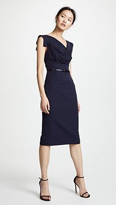 b3b2a13bd0d Black Halo Jackie O Belted Dress