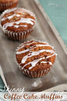"""Skinny Coffee Cake Muffins ~ Amazing muffins that are a little on the lighter side and taste like the """"real"""" thing!"""