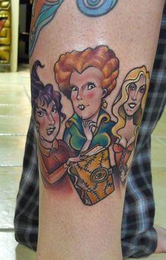 Hocus Pocus Adorable Sanderson Sisters tattoo