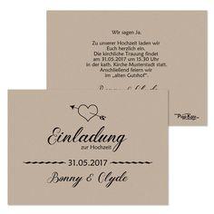 Einladungskarten Hochzeit Vintage Retro