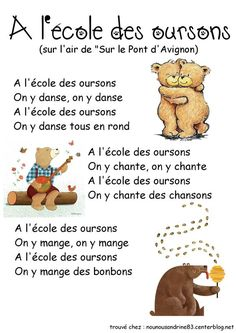 Intercalaires ours - - French Education, Primary Education, Primary School, French Teaching Resources, Teaching French, Preschool Art Activities, Classroom Activities, Simple Machine Projects, French Poems