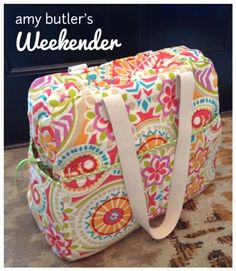 Steph Zerbe Design Sew Saay Spring Weekender Bag Diy Sewing Projects Knitting