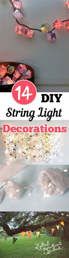 DIY String Light Decorations. Check out these Perfect lighting options for an amazing ambiance!