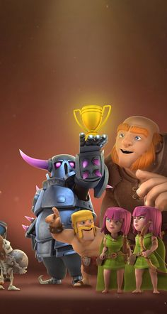 Winning a trophy Wallpaper Coc, Cartoon Wallpaper, Dessin Clash Of Clans, Supercell Clash Of Clans, Clash Royale Drawings, Clash Of Clash, Desenhos Clash Royale, Clash Of Clans Game, Jinx Cosplay