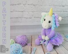 Mike bull Christmas bull/ New Year bull/ PDF pattern bull/ | Etsy Crochet Unicorn Pattern, Plush Pattern, Crochet Patterns Amigurumi, Amigurumi Doll, Knitting Patterns, Crochet Fairy, Cute Crochet, My Little Pony Plush, Step By Step Crochet