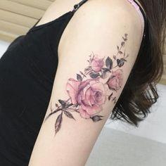 subtle watercolor rose
