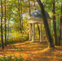 Осенние пейзажи. Художник Виктория Лёвина