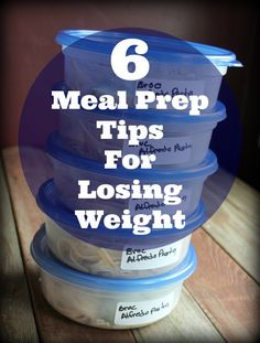6 Meal Prep Tips to help you organize a healthier lifestyle and lose weight. Meal prep is my #1 weight loss strategy. It helped me lose 40 pounds and keep it off.