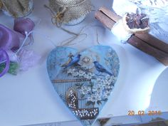 wedding  or  baptism  boboniera heart  12x12