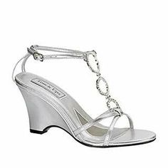 Silver Wedge Heel Dress Shoes | dress shoes promgirl arlene by airicalisha 2 1 2 wedge formal shoes ...