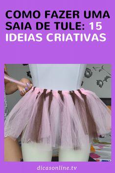 Como fazer saia de tule passo a passo simples e rápido Angel Halloween Costumes, Hallowen Costume, Tutu Bailarina, Ballet Skirt, Prom Dresses, How To Make, Style, 1, Marvel