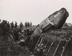 A Mark IV tank called Hyacinth, ditched at the battle of Cambrai, November 21st…