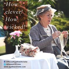 How clever! How wicked! Agatha Christie's Marple, Bbc Tv Shows, Miss Marple, Hercule Poirot, Tv Awards, Wise Quotes, Best Actress, Crime, Mystery