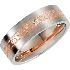Genuine IceCarats Designer Jewelry Gift 14K White/Rose Gold Wedding Band Ring Ring. Size 10.00 Designer Band Designer Band In 14K White/Rosegold Size 10 IceCarats,http://www.amazon.com/dp/B00A5FB6IK/ref=cm_sw_r_pi_dp_EfOxsb1WQDZYQNKH