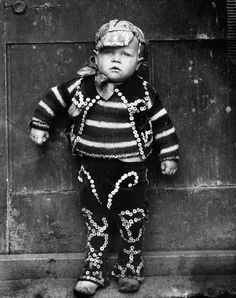 Master William Dennis Simmons, Pearly King, 1922