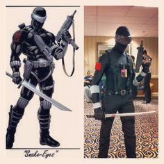 My Snake-Eyes cosplay at Dragon*Con.  I could use a little more muscle, though lol.